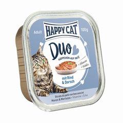 Happy Cat Duo Rind & Dorsch 100g